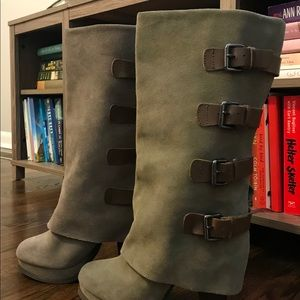 Slouched Boots (Olive Green)